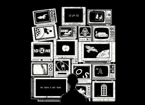 TV Addict Threadless