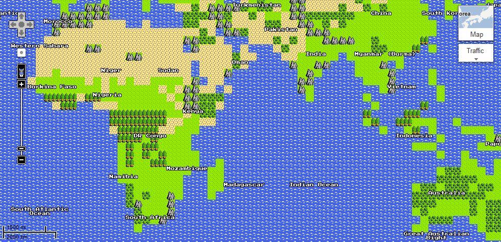 Google Launches 8Bit Google Maps Collider