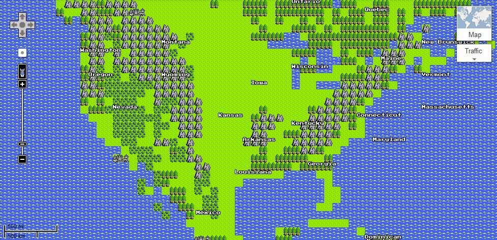 Google Launches 8-Bit Google Maps | Collider on