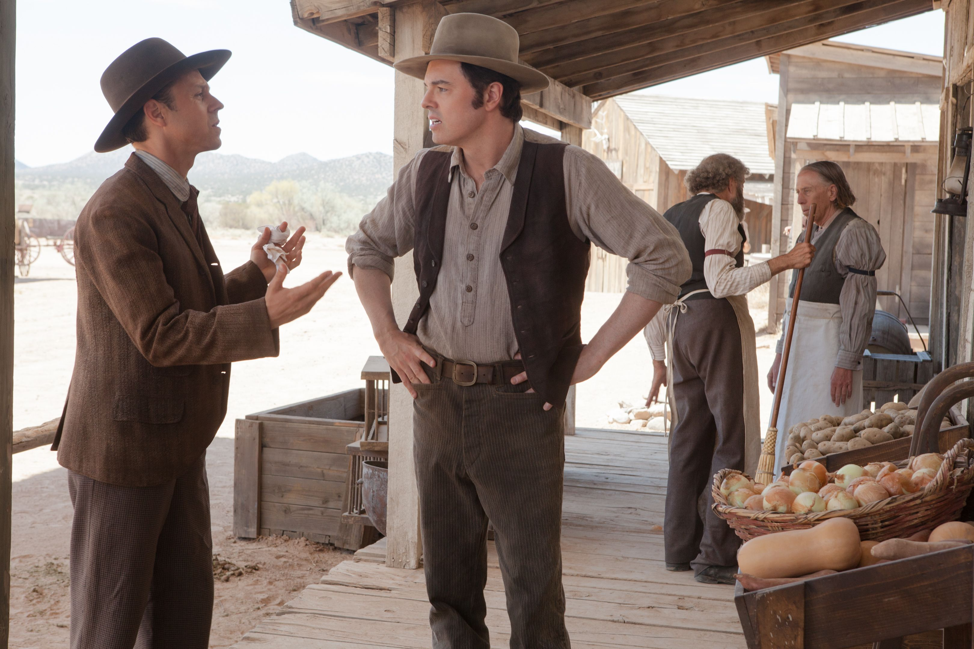 seth macfarlane and charlize theron a million ways to die in the