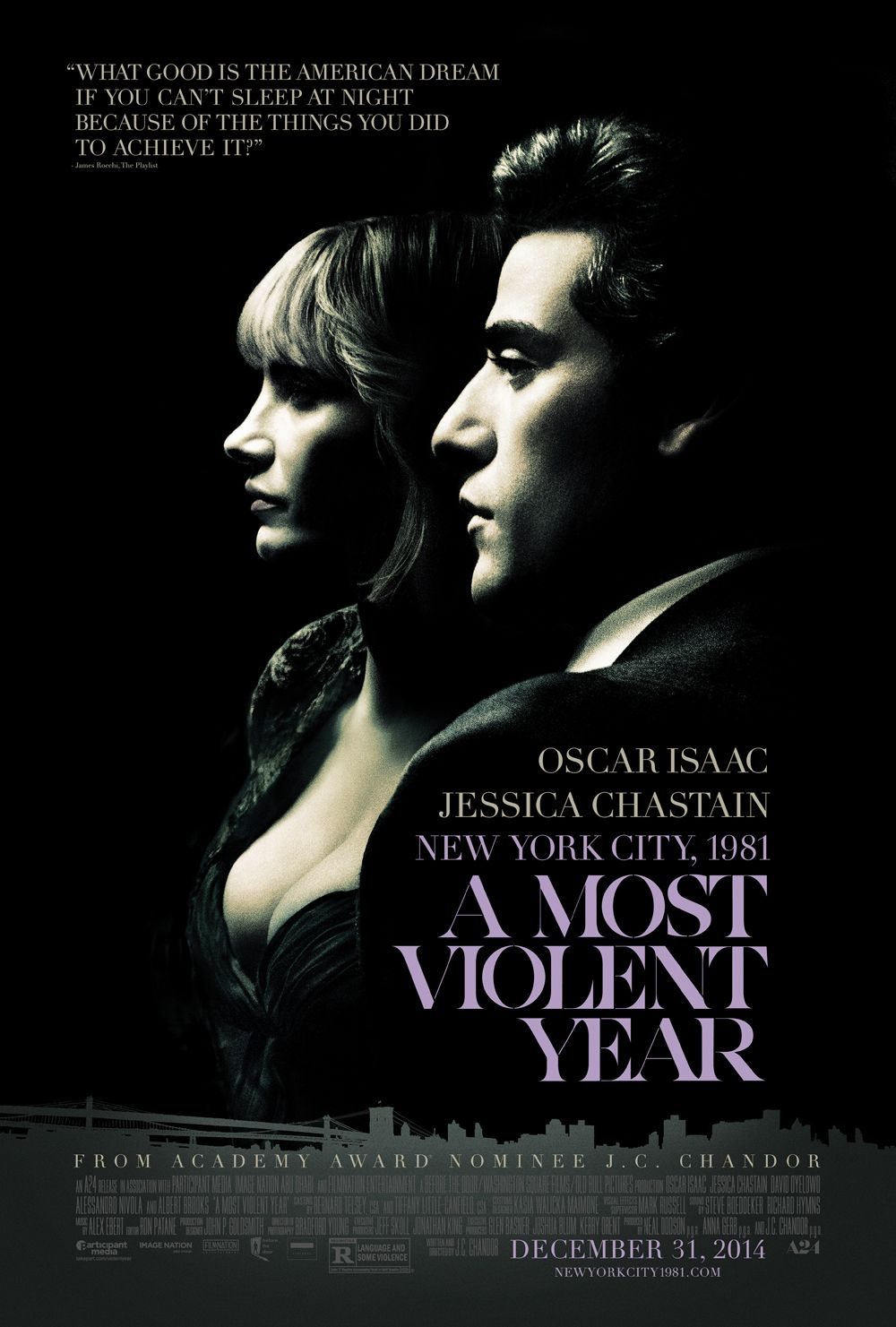 Oscar Isaac and Jessica Chastain Talk A Most Violent Year and Star