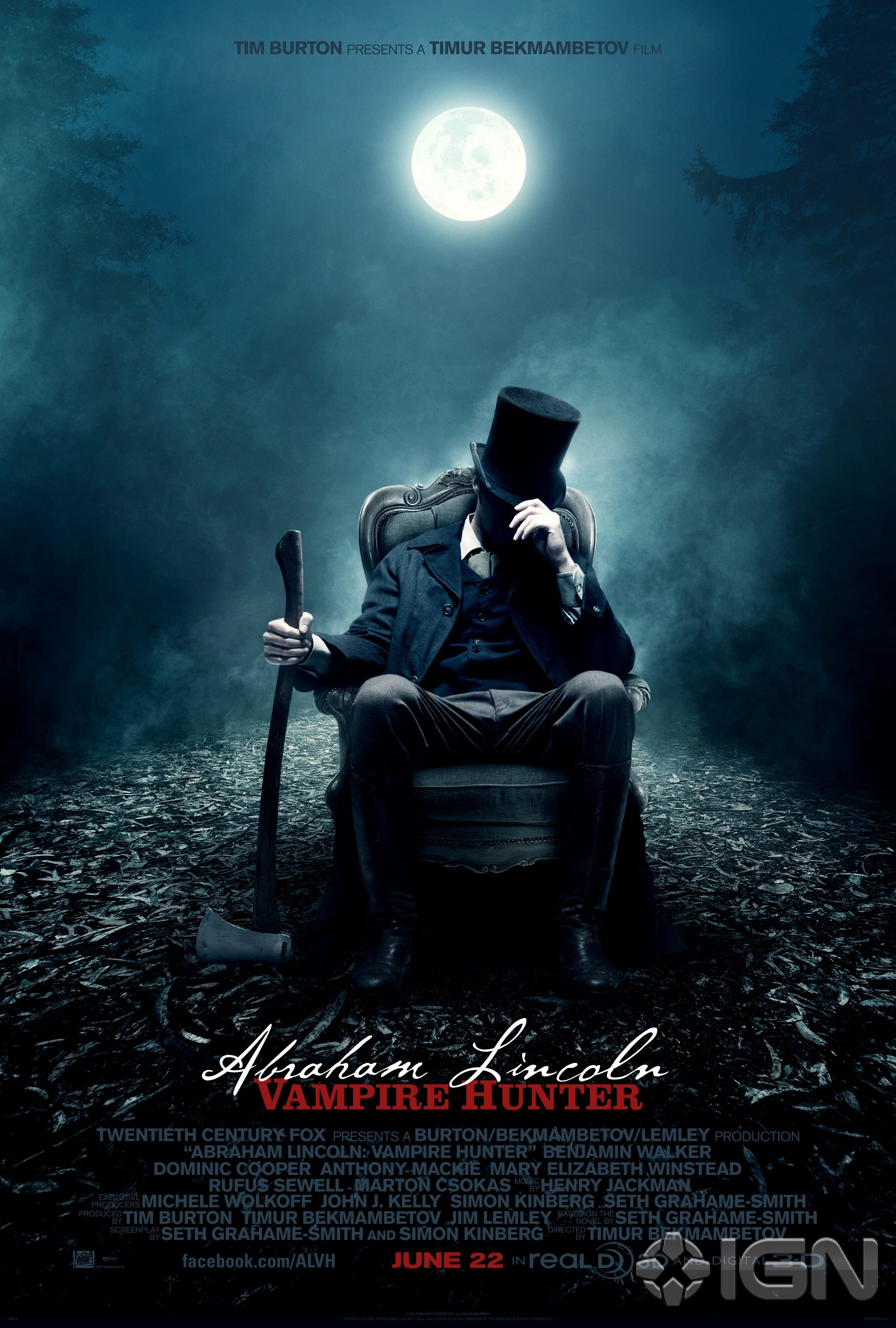Abraham Lincoln Vampire Hunter Teaser Poster Collider