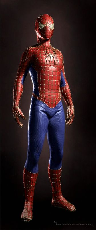 Unused Costume Designs and Concept Art for THE AMAZING SPIDER-MAN