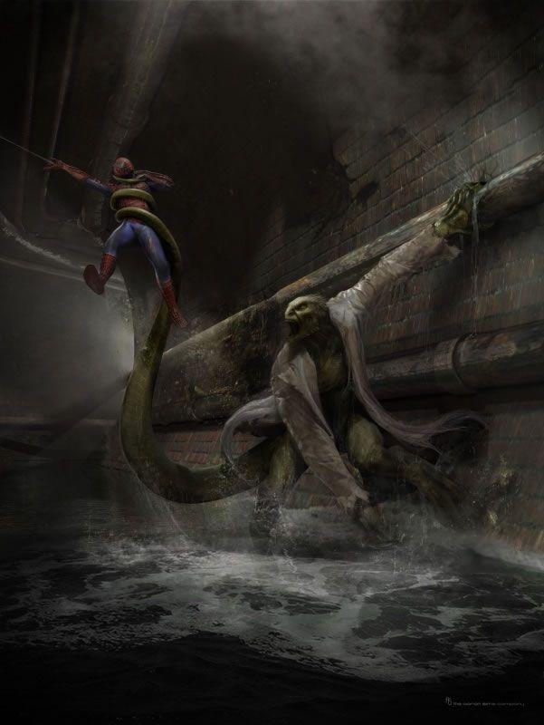 amazing-spider-man-lizard-concept-art-1 & THE AMAZING SPIDER-MAN Costumes Concept Art   Collider