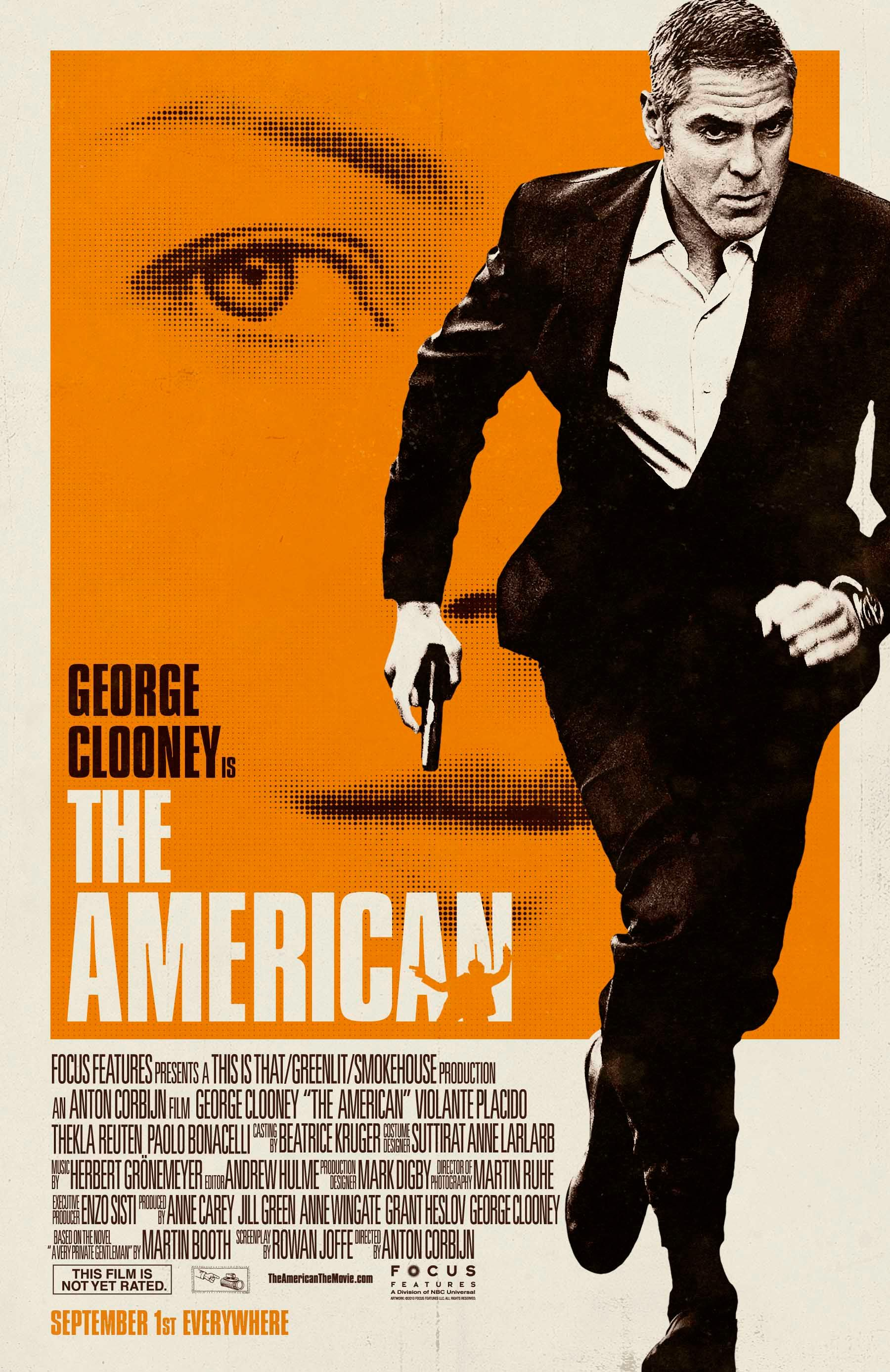 sweet 70s style poster for anton corbijn 39 s the american starring george clooney collider. Black Bedroom Furniture Sets. Home Design Ideas
