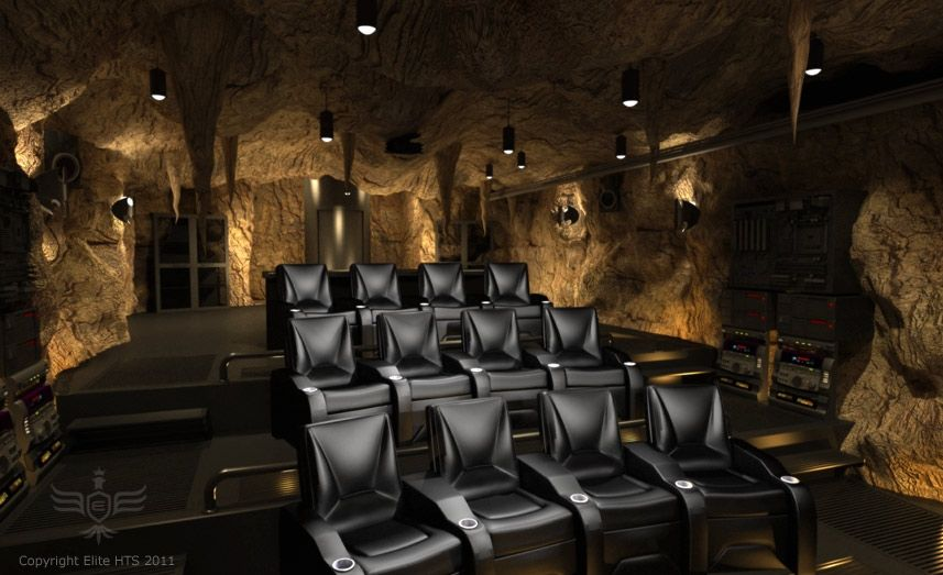 The Dark Knight Rises Batcave Home-Theater | Collider