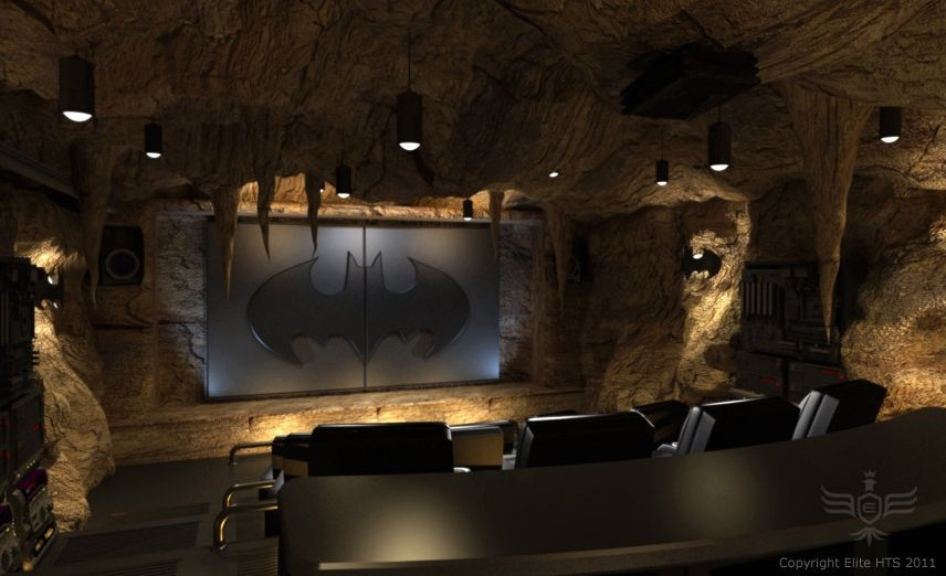 THE DARK KNIGHT RISES Batcave Home Theater Collider