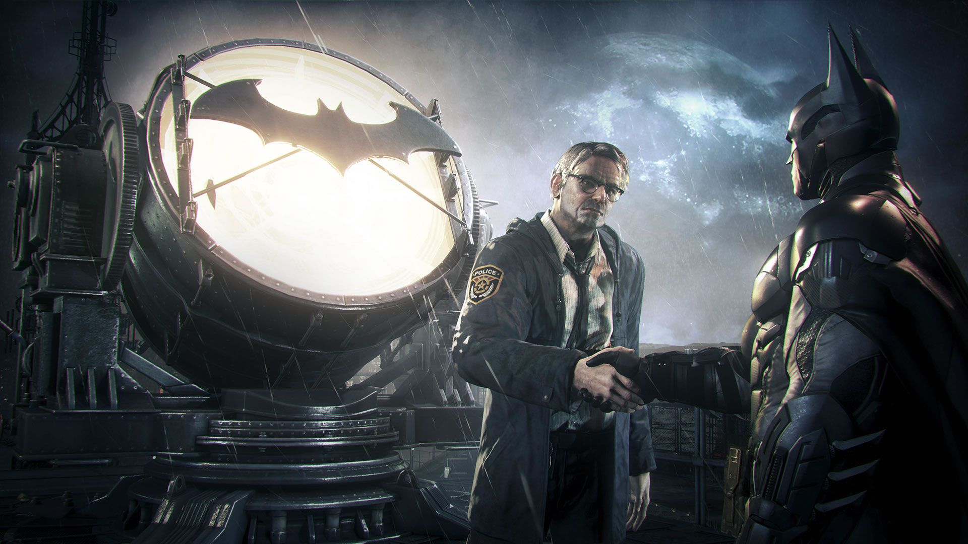 Batman Arkham Knight Bat Signal James Gordon