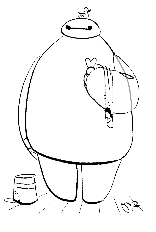 Big Hero 6 Baymax Sketch