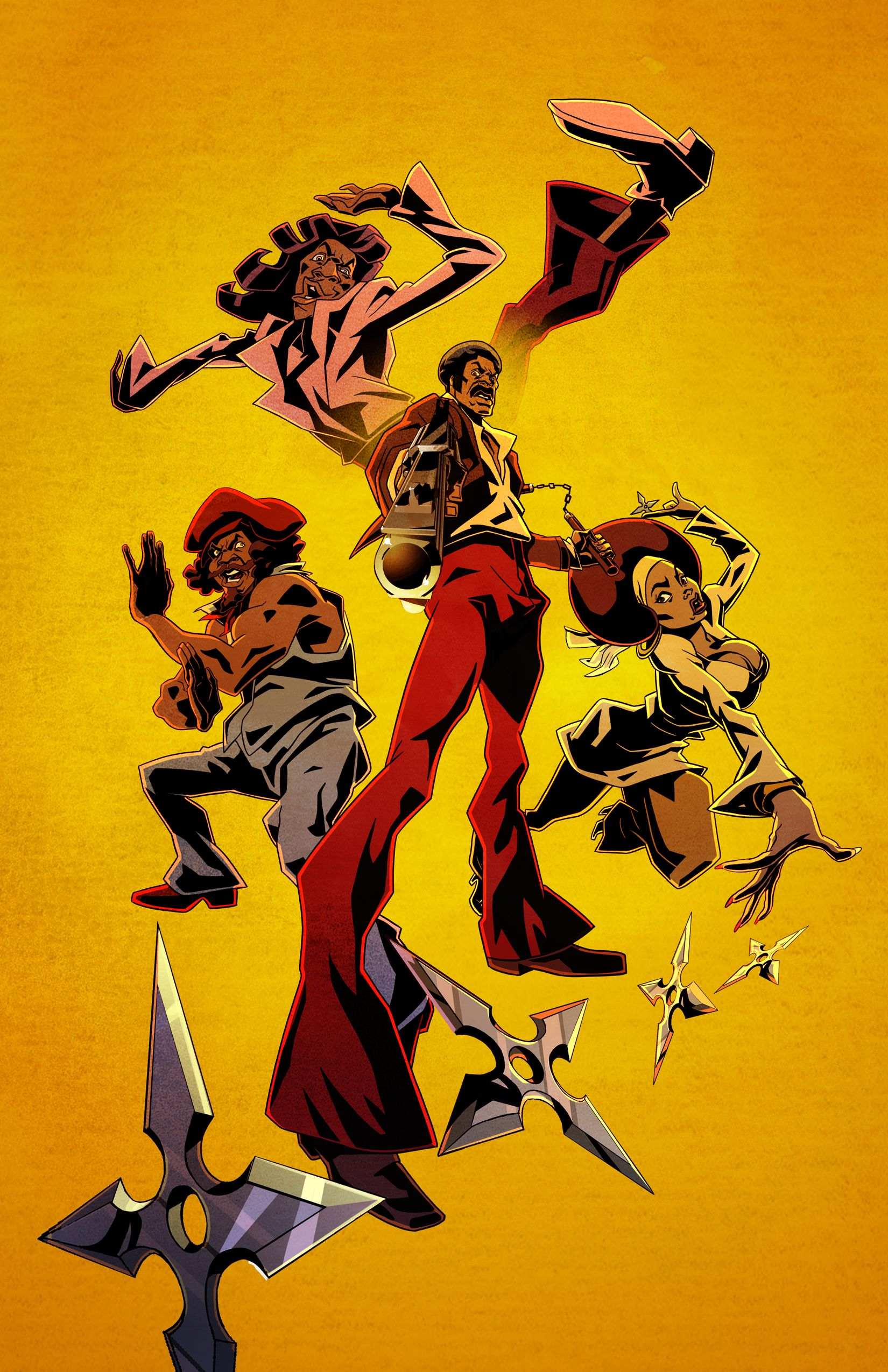 Black Dynamite Animated Series Trailer Posters And