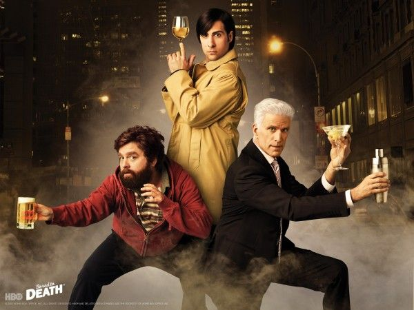 Jason Schwartzman, Zach Galifianakis, and Ted Danson star in Bored to Death.