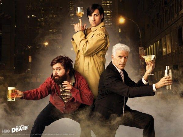 Jason Schwartzman, Zach Galifianakis, and Ted Danson star in Bored to Death.