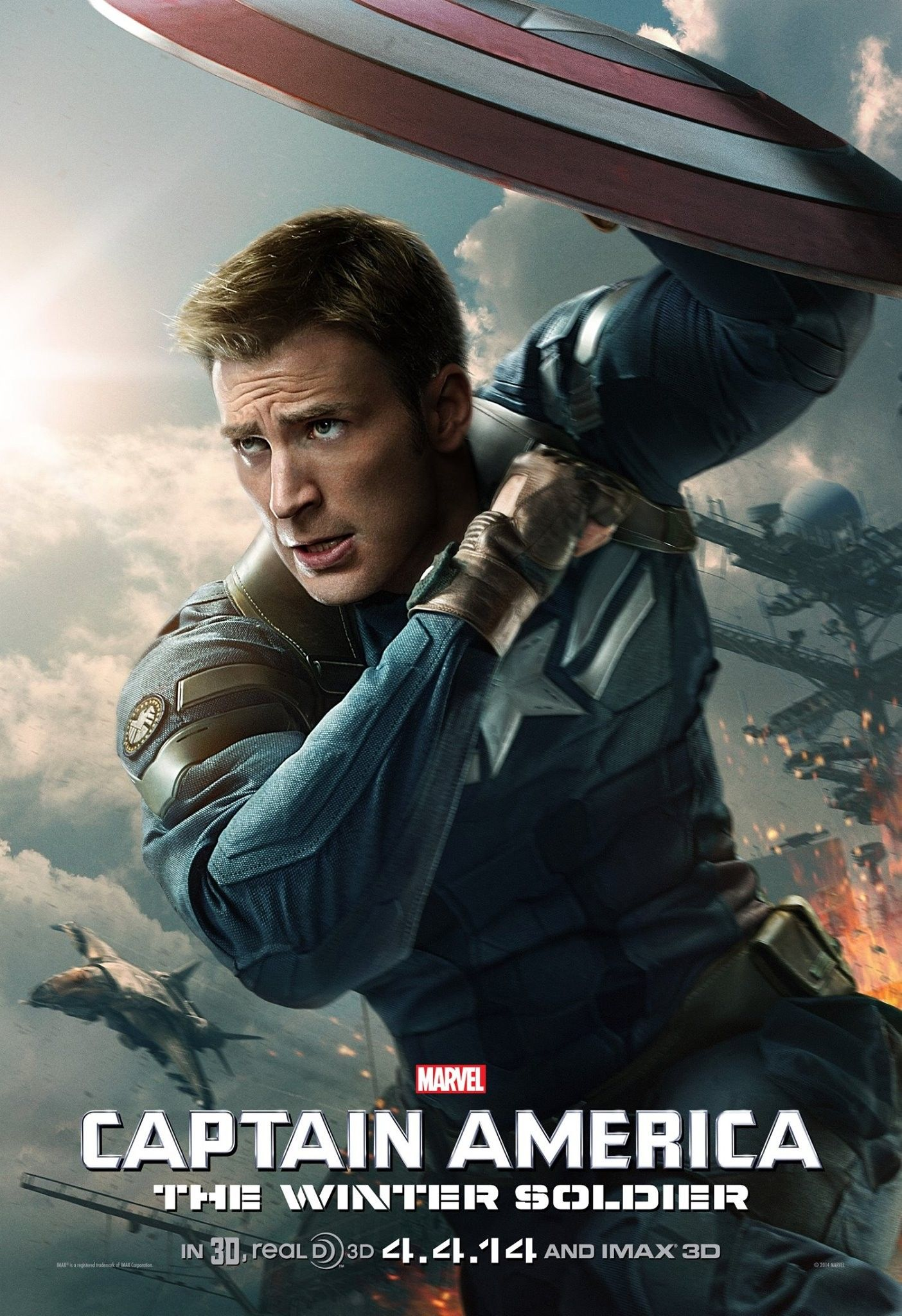 captain america 2 poster chris evans stars collider. Black Bedroom Furniture Sets. Home Design Ideas