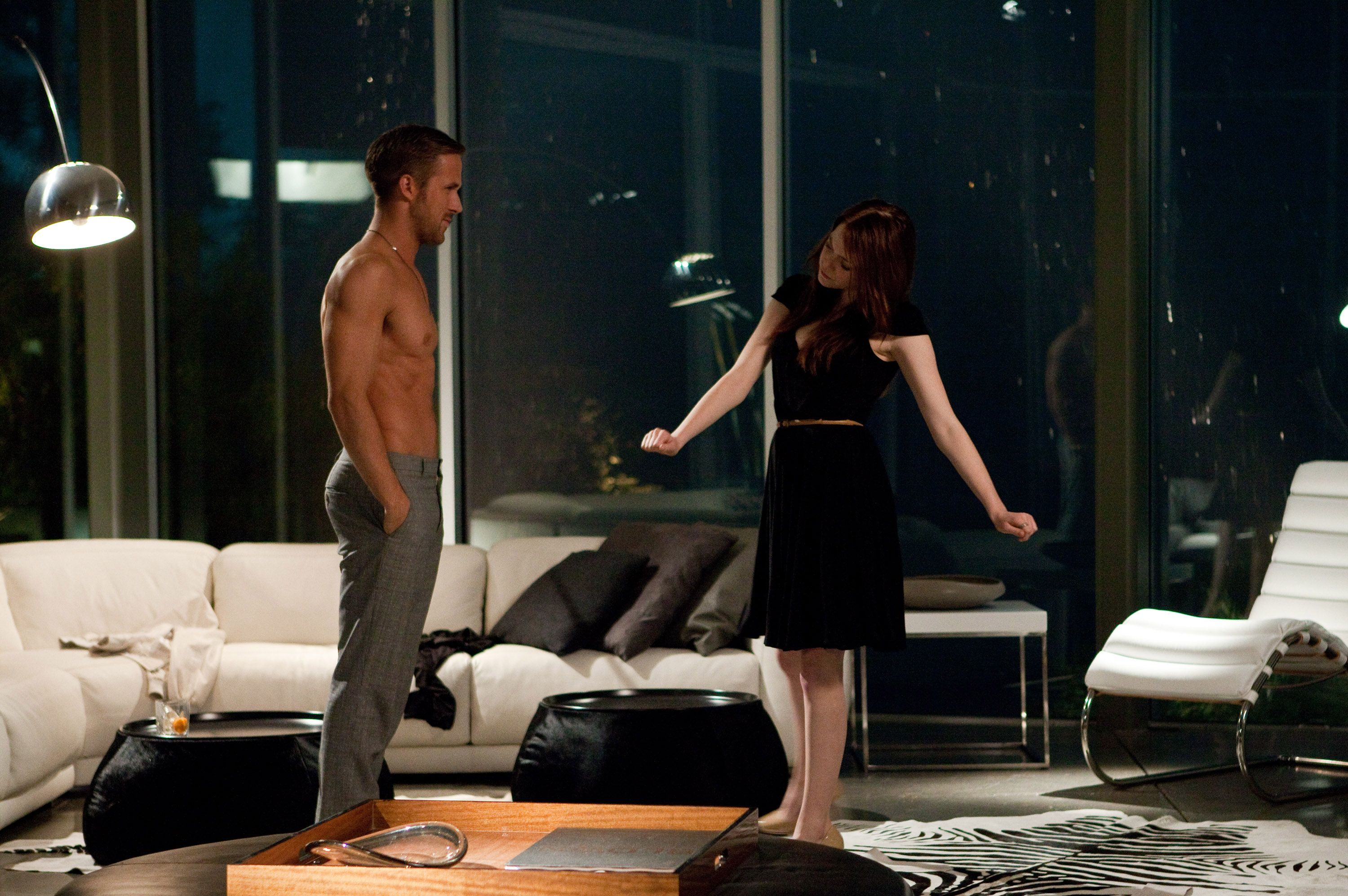 crazy stupid love sauna scene
