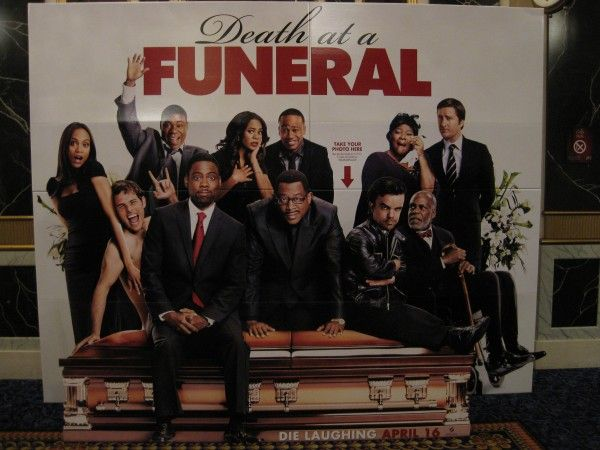 Death at a Funeral theater standee