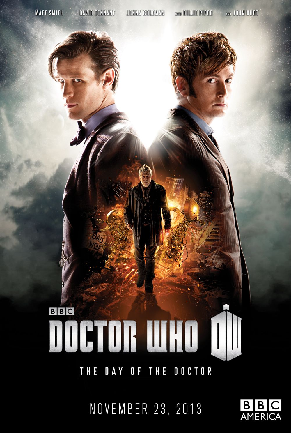 DOCTOR WHO: DAY OF THE DOCTOR Poster Featuring David ...