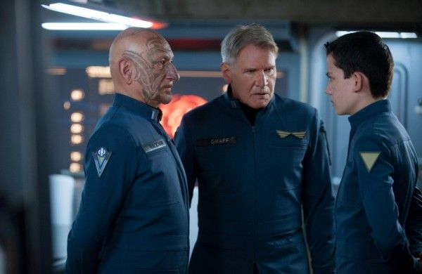 enders game ben kingsley harrison ford asa butterfield