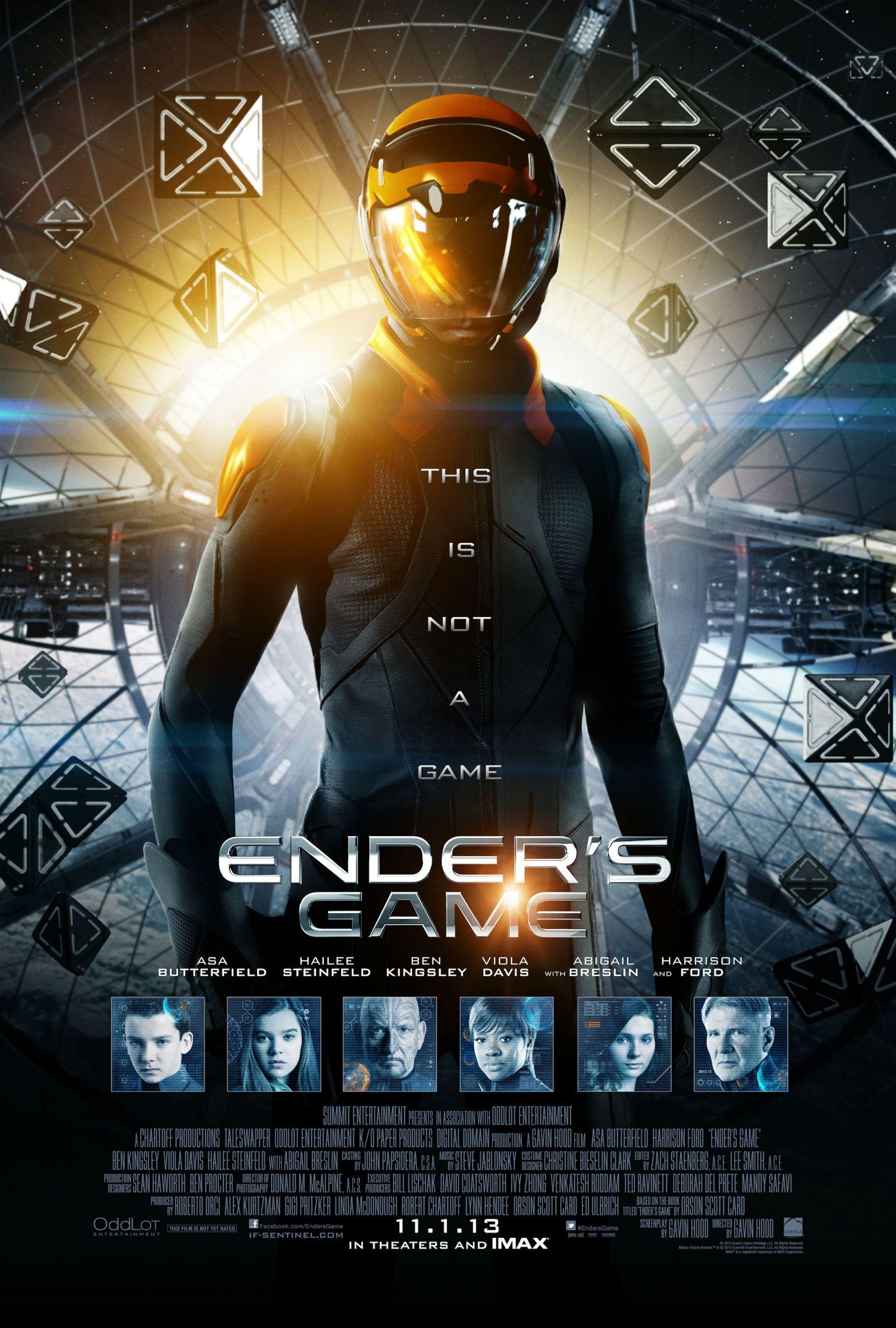ENDER'S GAME Final Poster. ENDER'S GAME Stars Asa ...