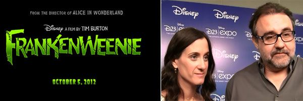 FRANKENWEENIE Logo and Don Hahn and Allison Abbate FRANKENWEENIE Interview slice