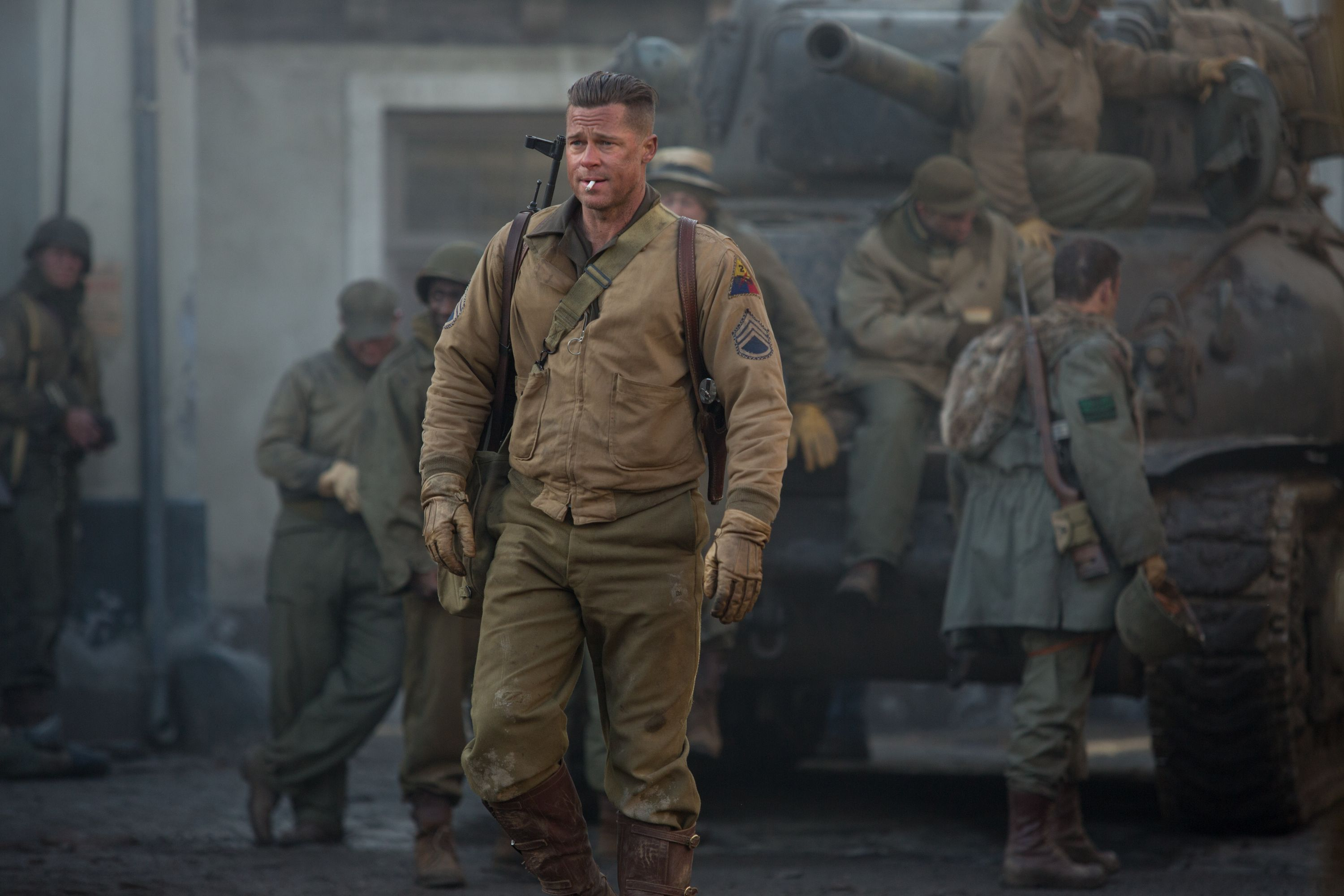 New FURY Images Featuring Brad Pitt Shia LaBeouf And Logan - New official trailer fury starring brad pitt