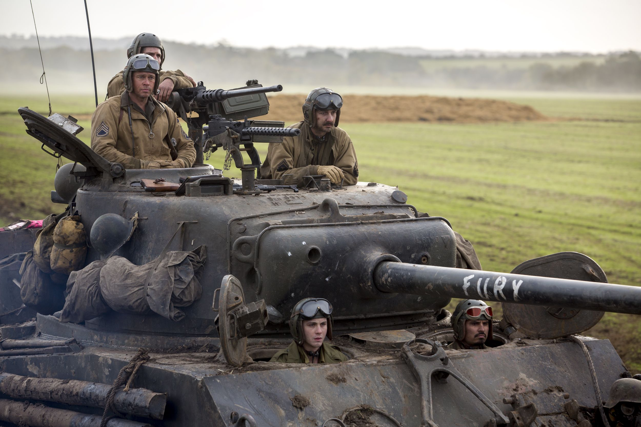 Fury Movie Set Visit And New Images Of Brad Pitt And Cast Collider - New official trailer fury starring brad pitt