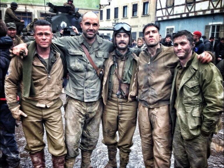 FURY Images FURY Stars Brad Pitt Shia LaBeouf Logan Lerman And - New official trailer fury starring brad pitt