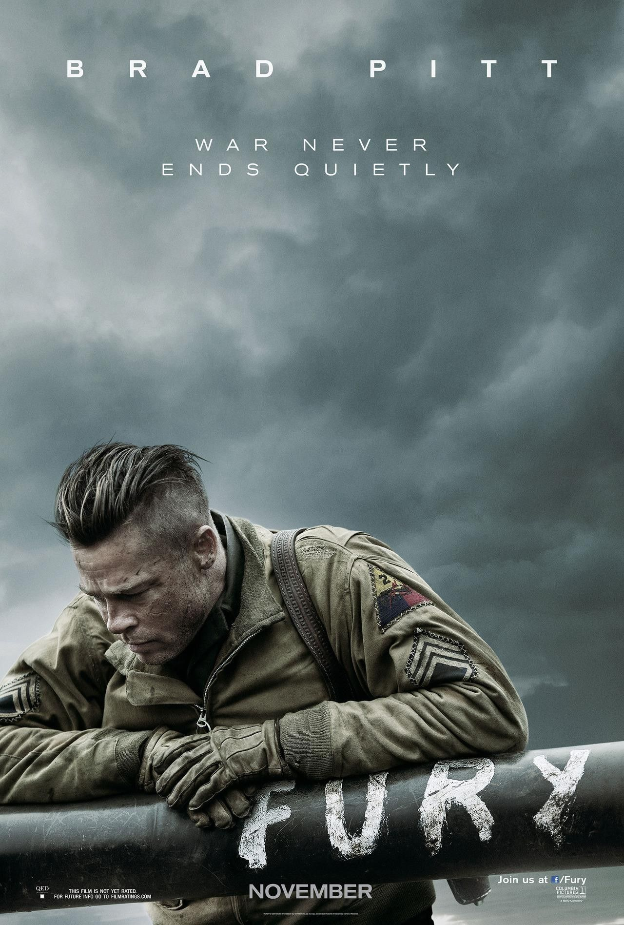 Fury poster brad pitt leads a world war ii tank unit collider fury poster brad pitt urmus Images