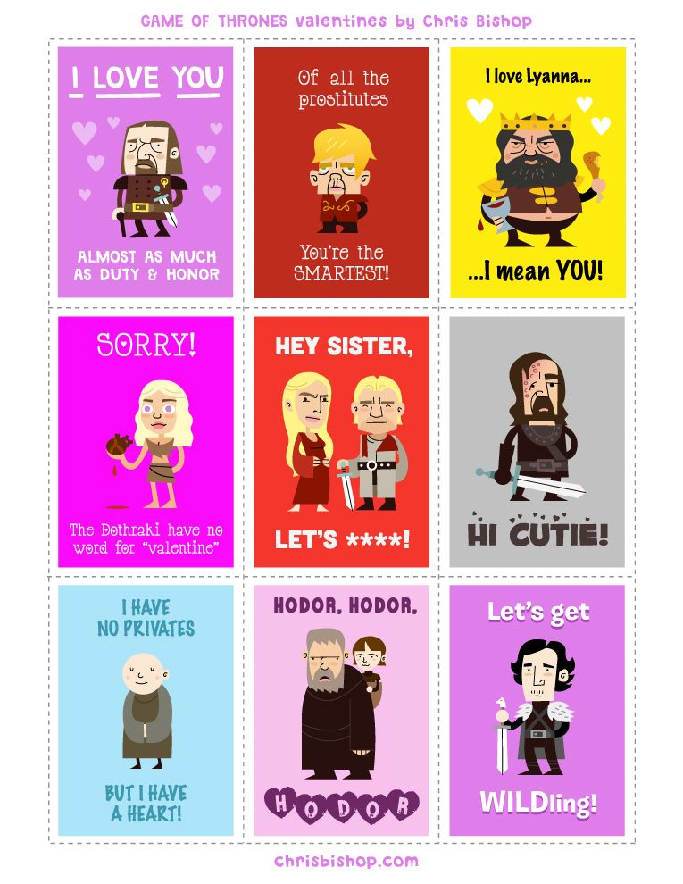 GAME OF THRONES Valentines Day Cards  Collider