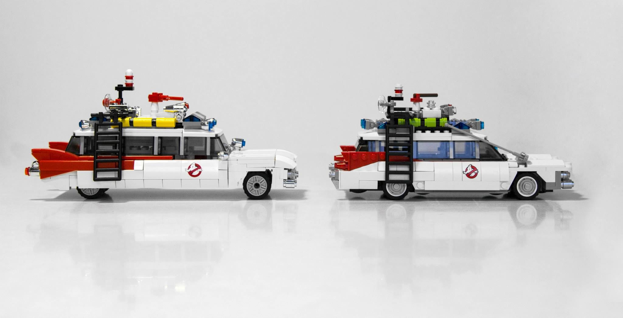 ghostbusters lego image comparison for the ecto 1 vehicle. Black Bedroom Furniture Sets. Home Design Ideas