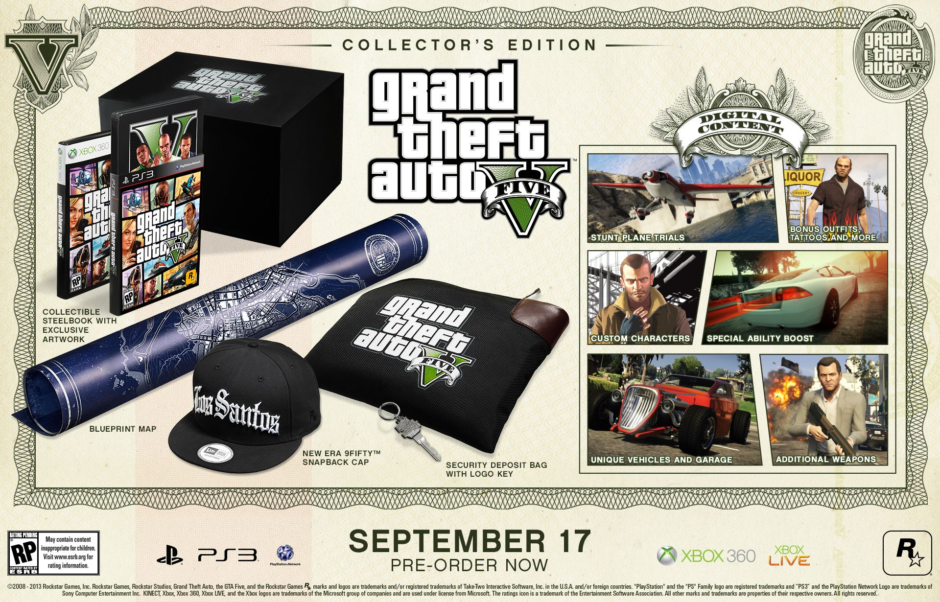 Gta 5 special and collectors edition announced grand theft auto grand theft auto v collectors edition malvernweather Images