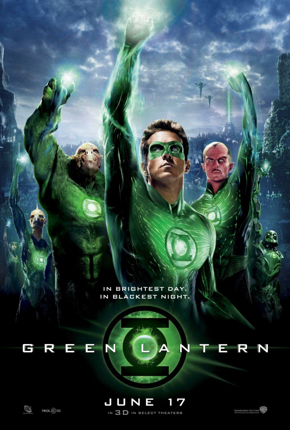 who plays green lantern in the movie
