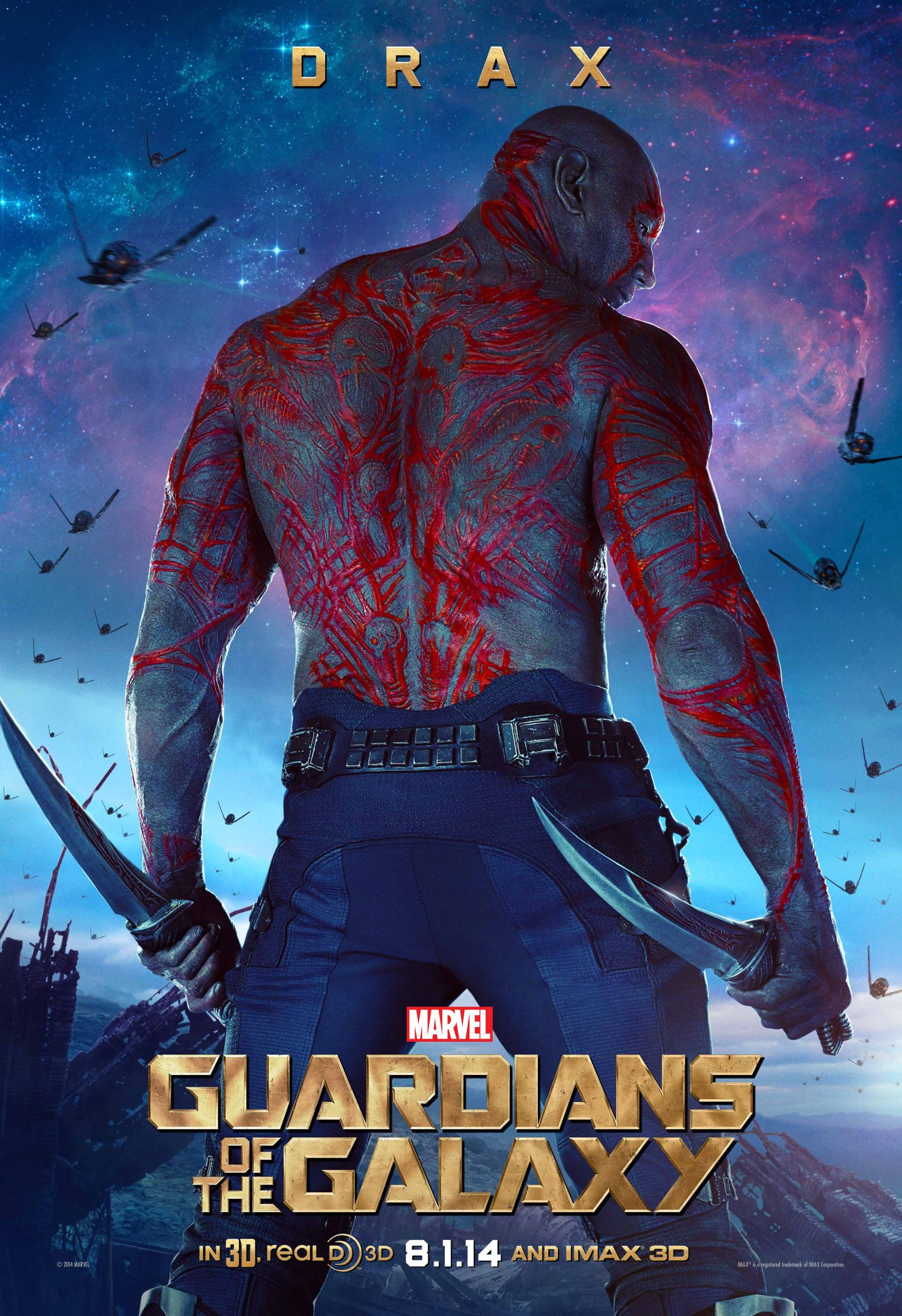 GUARDIANS OF THE GALAXY Posters: Star-Lord and Drax | Collider