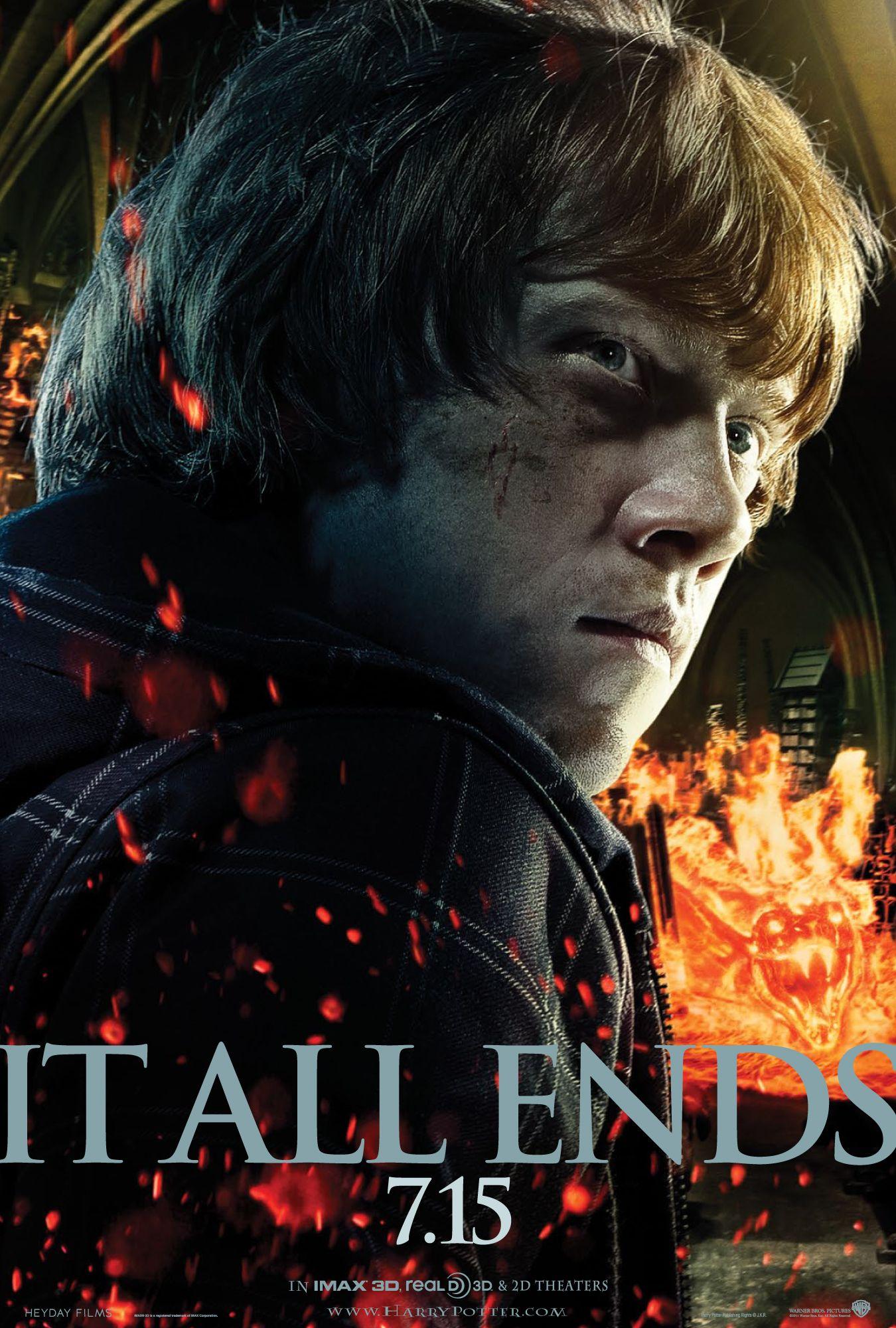 Harry Potter Deathly Hallows 2 Poster Rupert Grint