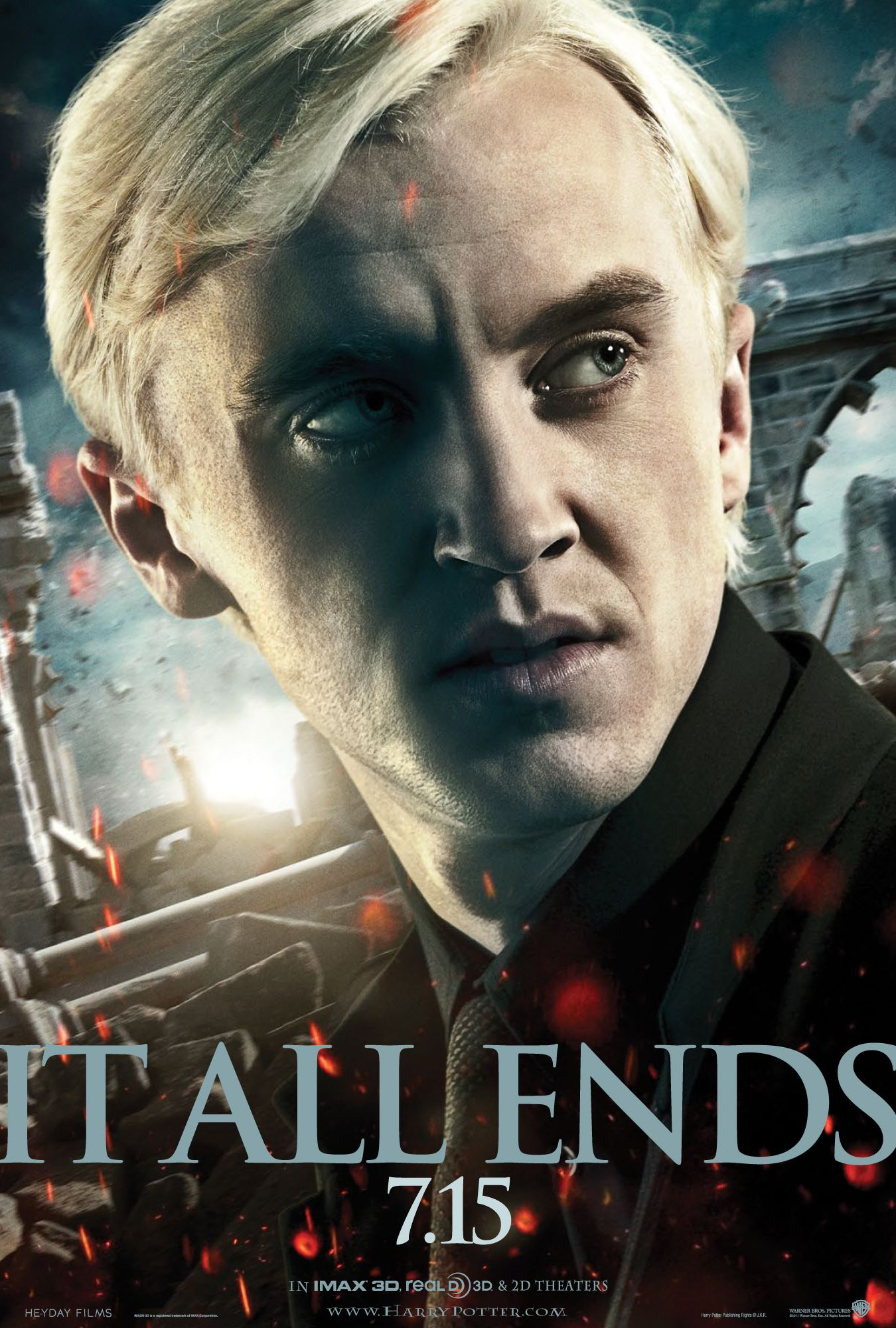 draco harry potter and the deathly hallows part 2 poster collider