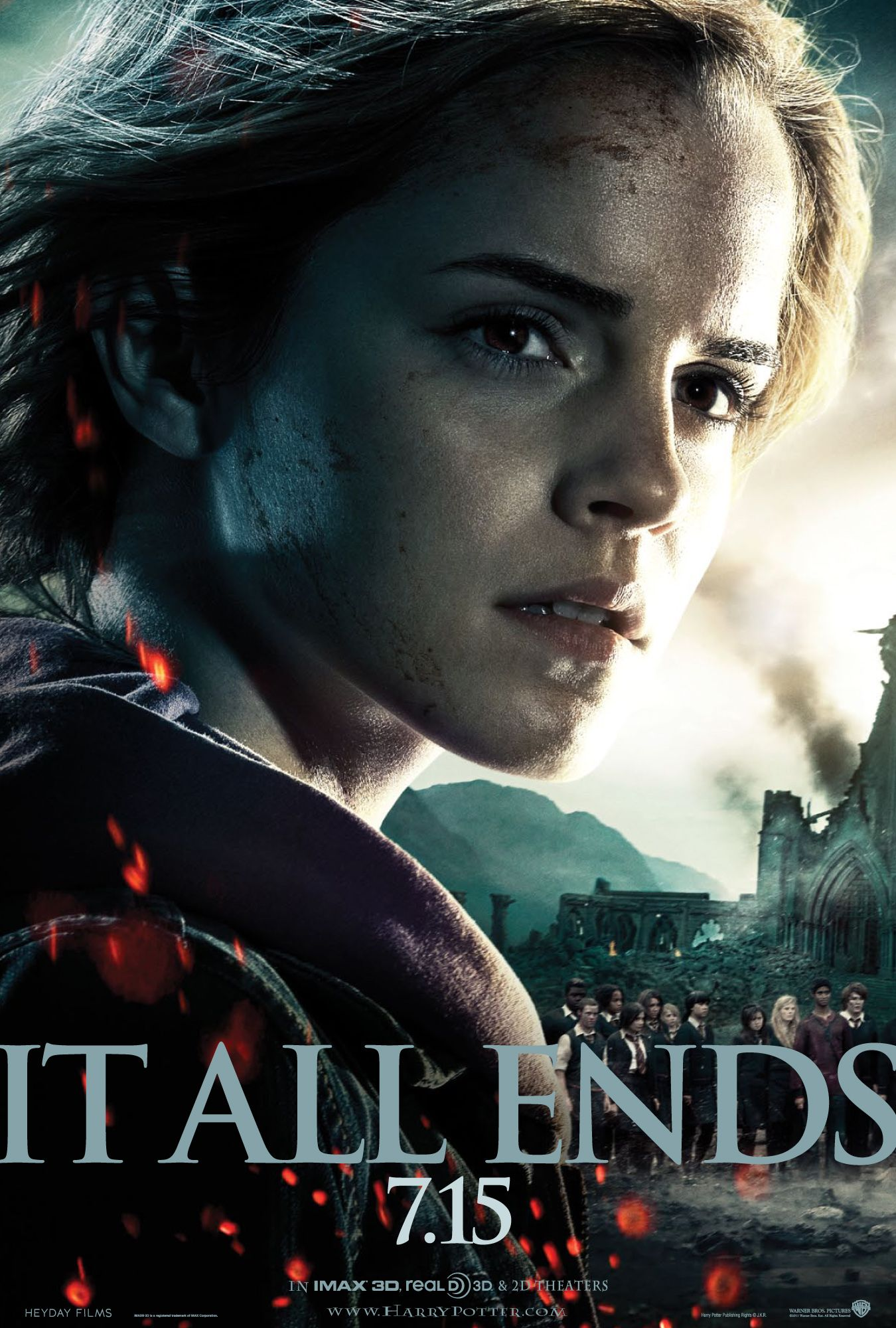 Harry Potter Deathly Hallows Part 2 Poster Emma