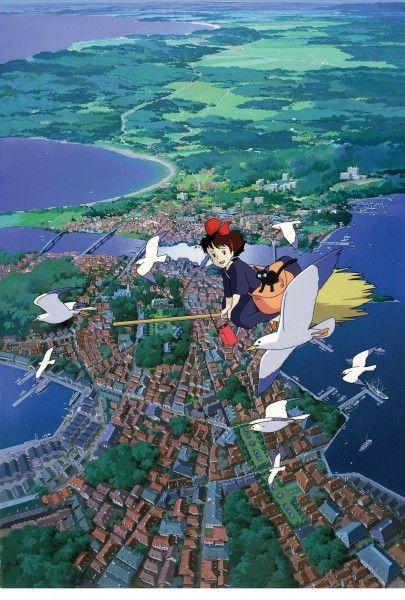 Hayao Miyazaki Kikis Delivery Service movie image