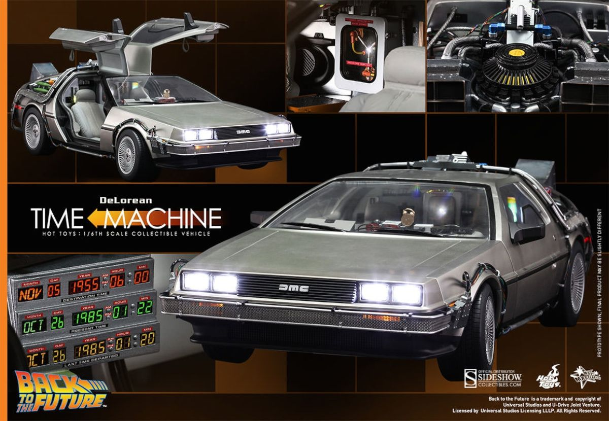 hot toys back to the future delorean from sideshow collectibles collider. Black Bedroom Furniture Sets. Home Design Ideas
