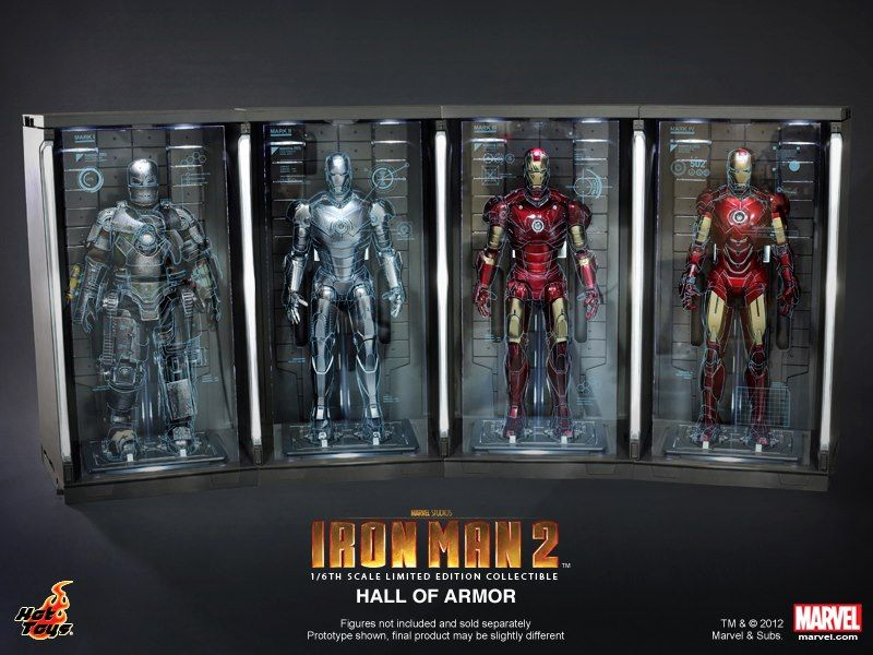 Hot Toys IRON MAN 2 Hall of Armor Collectibles | Collider