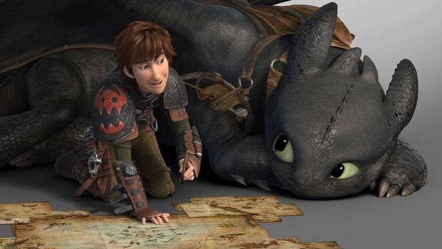 How to Train Your Dragon 2  Hiccup and Toothless flying