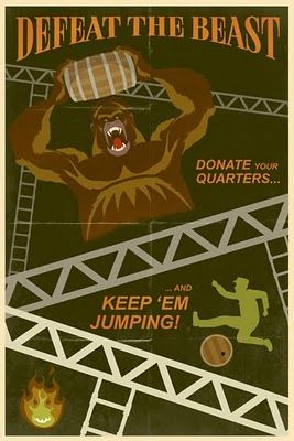 illustrator-steve-thomas-classic-video-game-poster-donkey-kong
