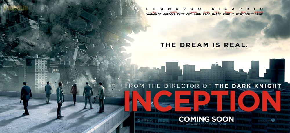 four banners for christopher nolan s inception collider