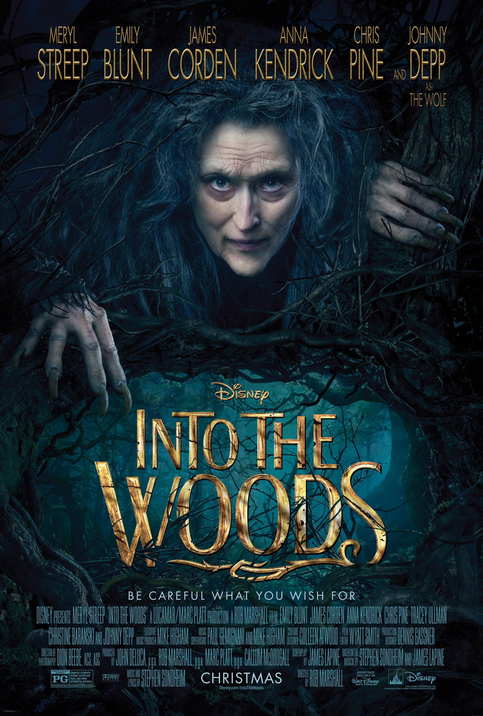 Into the Woods EW Covers Reveal Johnny Depp's The Wolf ...