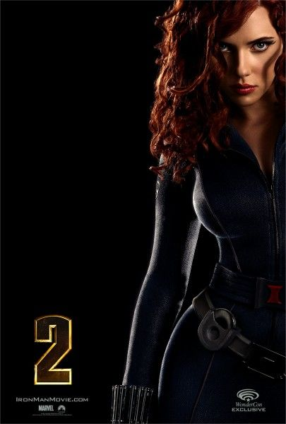 IRON MAN 2 Mini-Poster of Scarlett Johansson as Natasha Romanoff Black Widow at Wonder Con