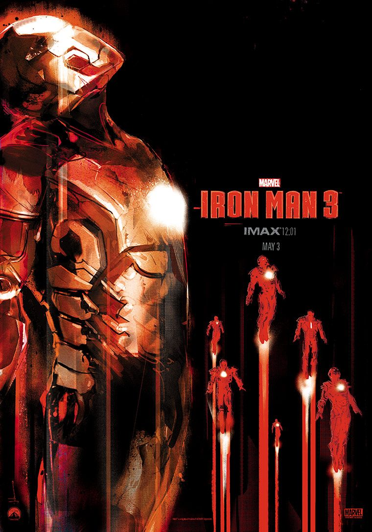 IRON MAN 3 IMAX Poster. IRON MAN 3 Stars Robert Downey Jr ...