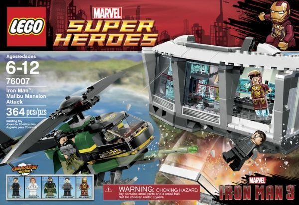 iron man 3 lego box malibu mansion attack