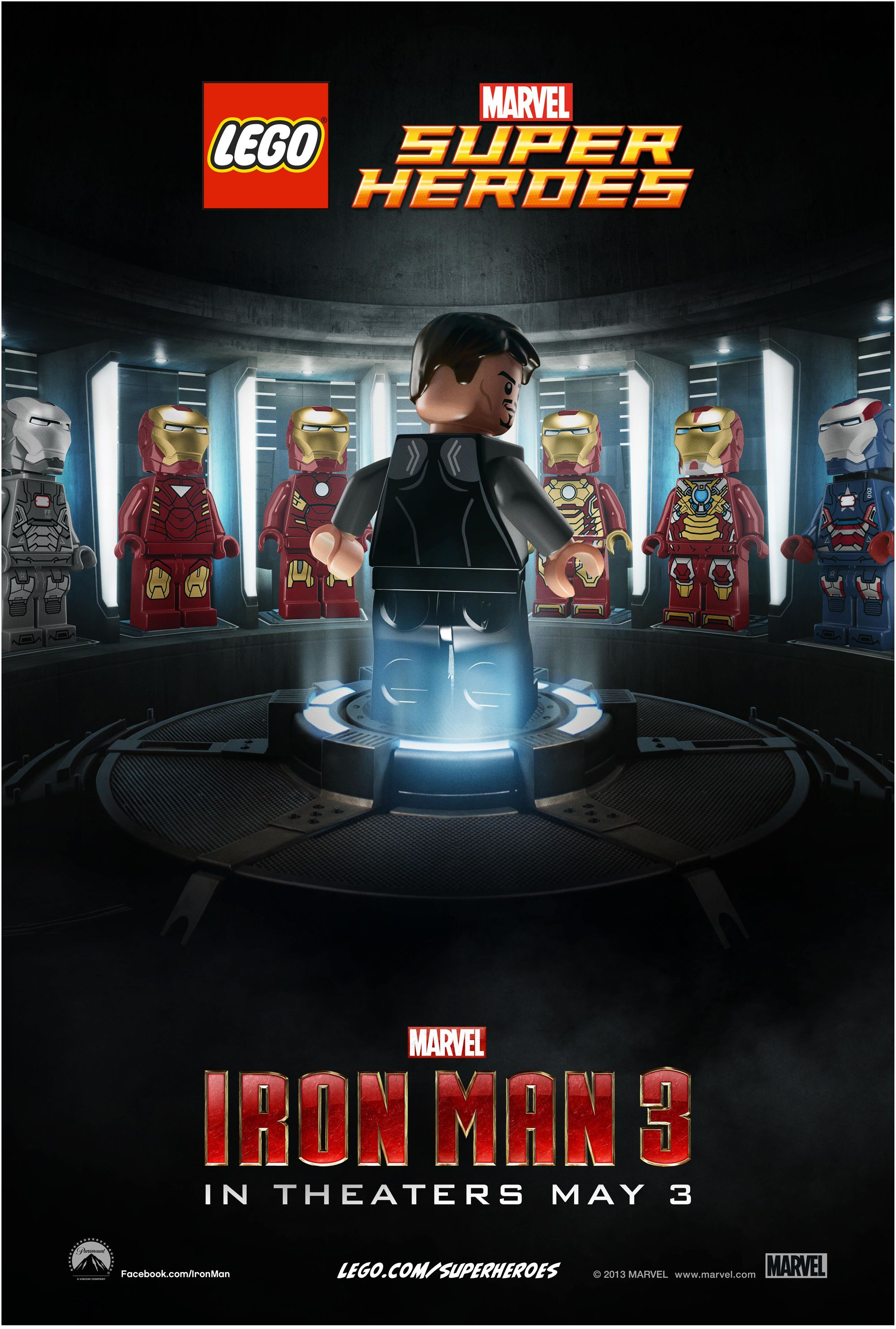 IRON MAN 3 LEGO Posters. IRON MAN 3 Stars Robert Downey Jr. | Collider