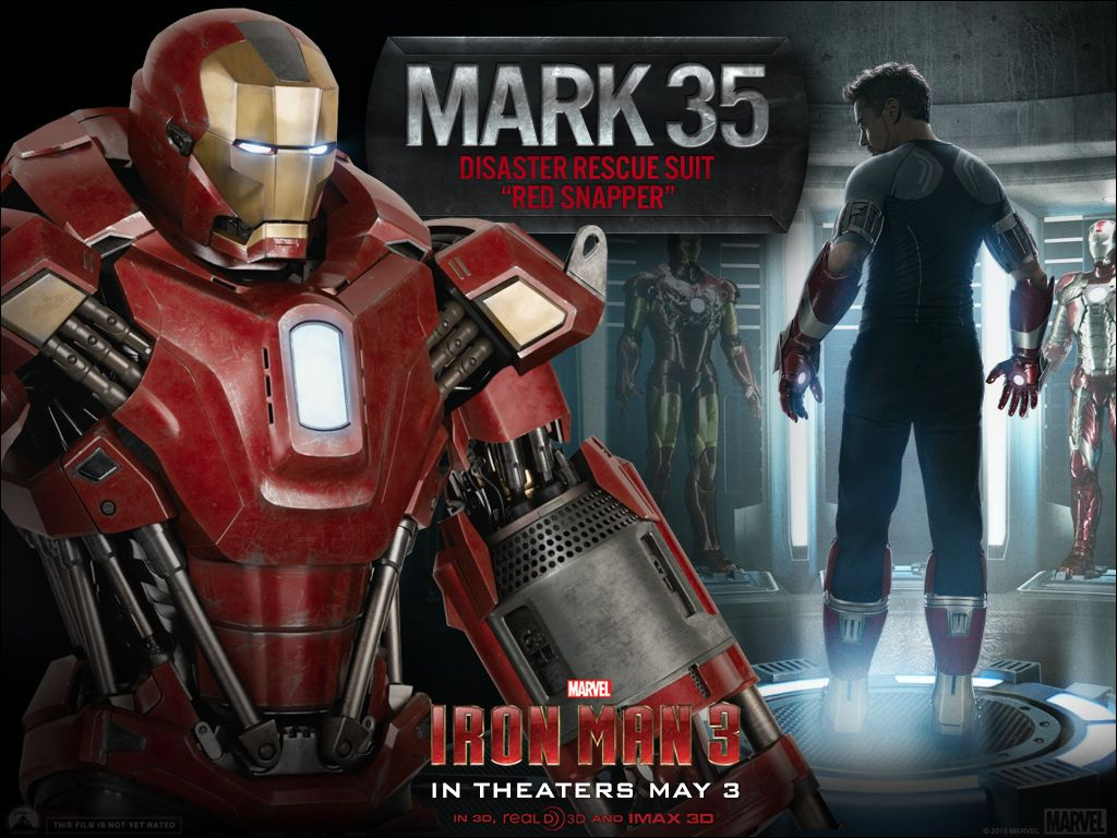 "iron man 3 armor images for ""gemini"" and ""red snapper"" suits 