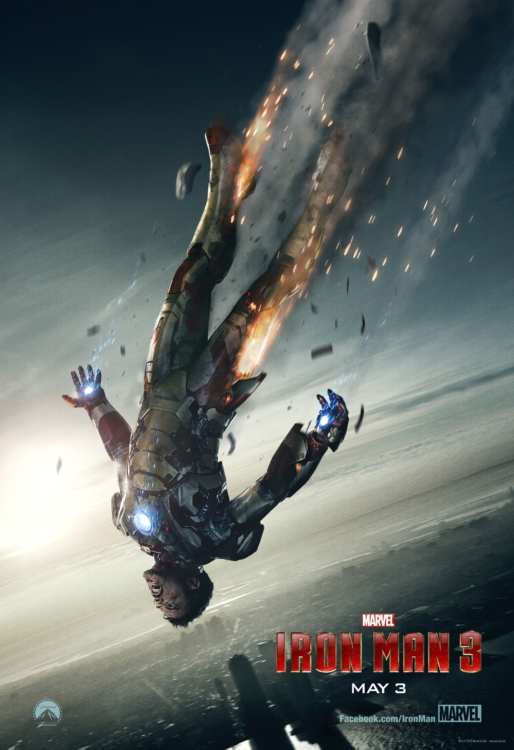 Iron Man 3 Poster Shows Iron Man In Freefall Collider