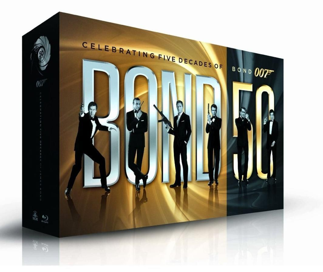 all 22 james bond films to be released in one blu ray box set this fall collider. Black Bedroom Furniture Sets. Home Design Ideas