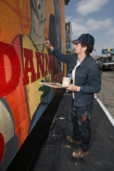 james franco this is the end mural 3